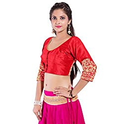 TAM CREATIO Women's Wedding Wear Gotta work Silk Cotton Blouse Fabric
