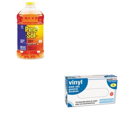 Kitbwk365Lcox41772Ea - Value Kit - Clorox Pine-Sol All-Purpose Cleaner (Cox41772Ea) And Boardwalk General-Purpose Vinyl Gloves (Bwk365L) front-587514