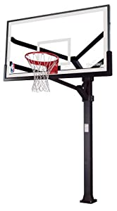 Buy Spalding Arena View H Frame In-Ground Basketball System with 72-inch Aluminum H Framed Acrylic... by Spalding