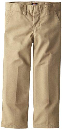 Dickies Little Boys' Uniform Flex Waist Flat Front Pant, Khaki, 7