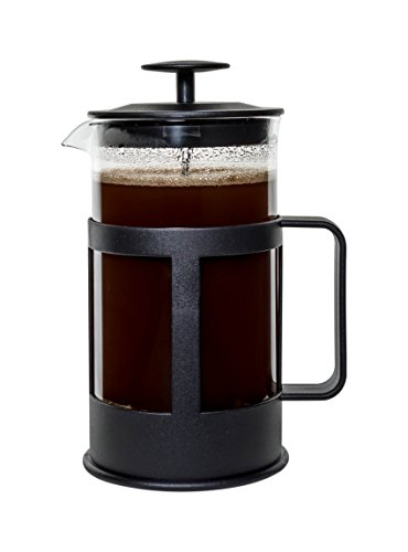 Bruntmor KASTRA 8 Cup (34 Oz) French Press Coffee and Tea Maker with 3 Bonus Filter Screens, Best Coffee Press Pot with Stainless Steel Plunger & Borosilicate Heat Resistant Glass