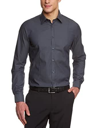 Venti Herren Businesshemd  001470/75, Gr. 37, Grau (75 anthra)