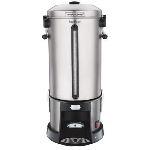 Coffee Urn, 110 Cup, Black/Silver