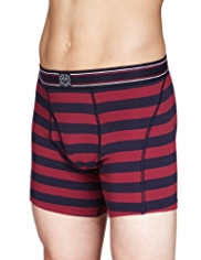 2 Pack Blue Harbour Stretch Cotton Rugby Striped Trunks