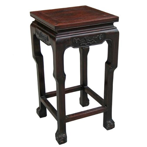 Cheap EXP Antique Style End/Accent Table, Intricate Hand-Carved Trim (frc1038)