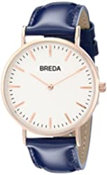 Breda Women's 1678E Analog Display Quartz Blue Watch