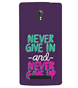 printtech Never Give Up Quotes Back Case Cover for Oppo Find 7 : Oppo Find 7 QHD
