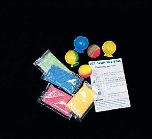 Make your own Bouncy balls - craft kit makes 12 balls(6 kits, each kit makes 2 balls) (Super Bounce Ball Kit compare prices)