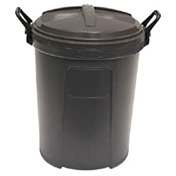 26gal Blk Trash Can (Pack Of 6)