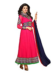 Ombresplash sush Anarkali Dress Material