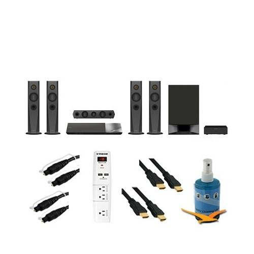 1200W 5.1Ch Blu-Ray Home Theater System Plus Hook-Up Bundle - Bdv-N7200W. Bundle Includes 3 Outlet Surge Protector W/ 2 Usb Ports, Two 6Ft Optical Toslink 5.0Mm Od Audio Cables, Two 6 Ft High Speed 120Hz 1080P Hdmi Cable, And Screen Cleaning Kit.