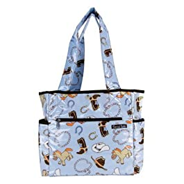 Trend Lab Tulip Tote Diaper Bag, Cowboy Baby by Trend Lab (English Manual)