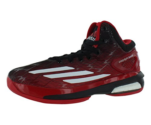 Adidas Crazy Light Boost Boys Running Shoes Size US 7, Regular Width, Color Red/Black/White