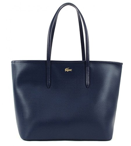 LACOSTE Chantaco Medium Shopping Bag Peacoat