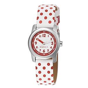 Esprit Mädchen-Armbanduhr Analog Quarz Leder ES000FA4034