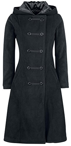 Gothicana by EMP Dark Fleece Coat Cappotto donna nero M