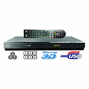 Saachi BDP-SA98 - All Multi Region Code Zone Free 2D/3D Blu-ray Disc Player with Full HD 1080p Internet Connectivity Plays PAL/NTSC DVD - Worldwide Use by Saachi
