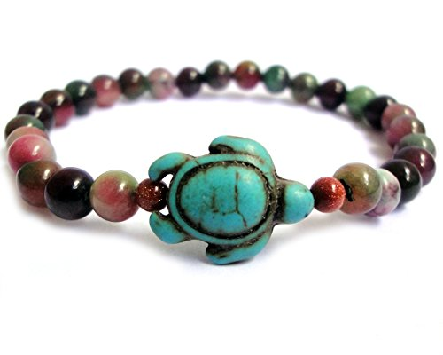 Turtle Agate Stones Beads Bracelet Stone Beads Religious Blessing Fashion Bracelet Collection