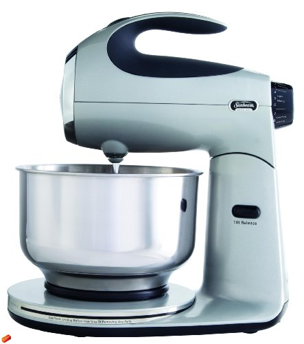 Sunbeam Fpsbsm2103 Heritage Series 350-Watt Stand Mixer, Silver back-524391