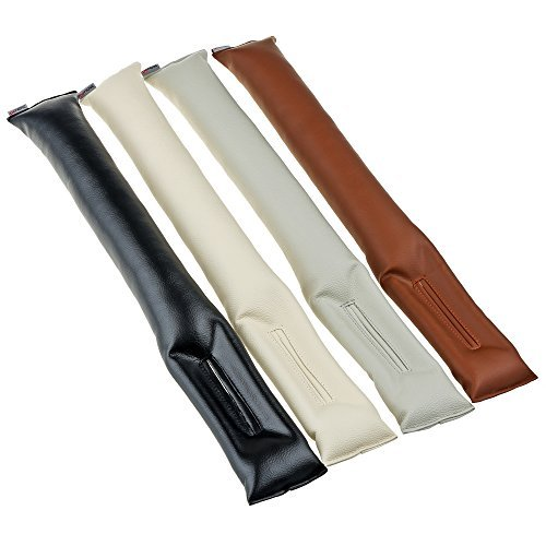 ChiTronic Car Vehicle Seat Hand Brake Gap Filler Pad PU Leather - Set of 2,Black (Seat Filler compare prices)