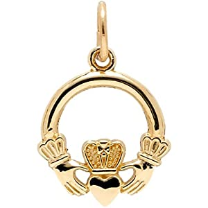 Rembrandt Charms Claddagh Charm, 14K Yellow Gold