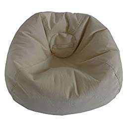 Ace Casual Furniture Large Textured Velvet Bean Bag Chair