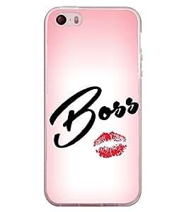 Boss Lips 2D Hard Polycarbonate Designer Back Case Cover for Apple iPhone 4
