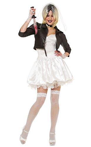 Costume Culture Women's Licensed Bride Of Chucky Costume, White, Small