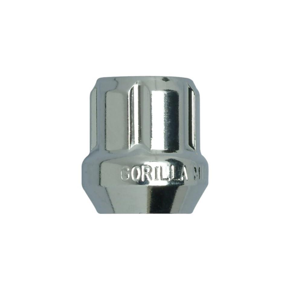 9//16-Inch Thread Size Gorilla Automotive 26093SD Small Diameter Duplex Open End Chrome Lug Kit -Pack of 20