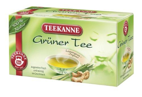 Teekanne Grüner Tee Lemongras-Ingwer 20 Beutel, 6er Pack (6 x 35 g)