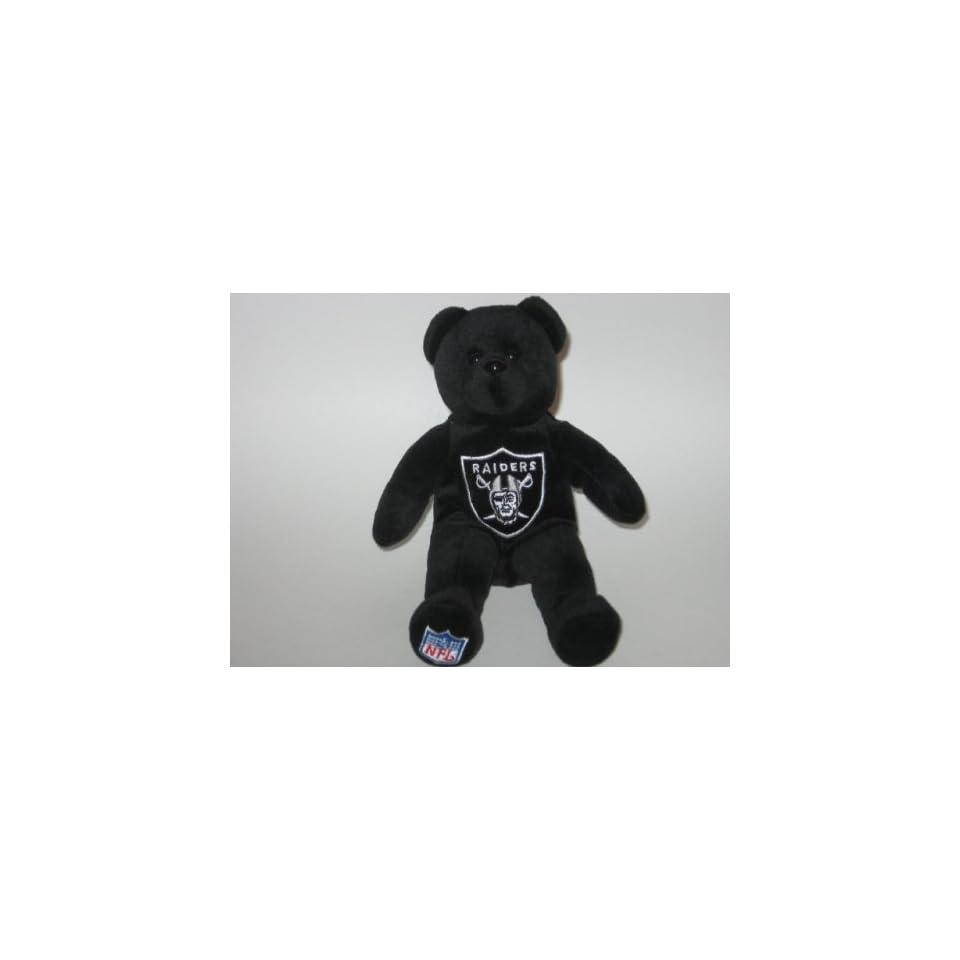 OAKLAND RAIDERS Team Logo Plush 8 TEDDY BEAR / BEANIE BABY