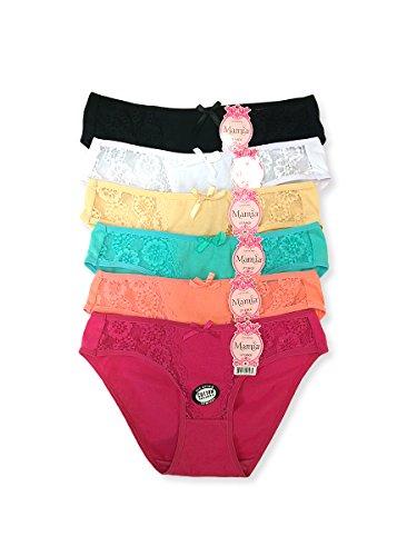 Ladies Bikini Style Panties Various Styles (Pack of 12)
