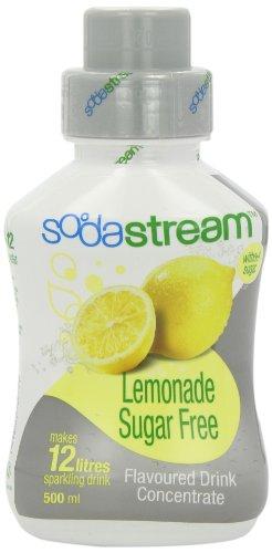 Sodastream Flavouring Syrup Sugar Free Lemonade 500 ml Bottle (Pack of 6)