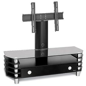 tv m bel lcd plasma lowboard schwarz black halterung inkl motor mit fernbedienung led. Black Bedroom Furniture Sets. Home Design Ideas