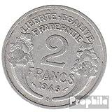 Francia km-No.. : 886 1949 B Aluminio 1949 2 FF Laureate (monedas para los coleccionistas)