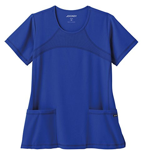 Modern Fit Collection by Jockey Scrubs Women's Mesh Round Neck Scrub Top X-Large Galaxy Blue (Mesh Side Scrubs compare prices)