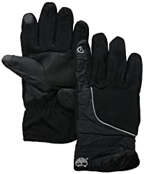 Timberland Men's Fleece Soft Shell Glove with Touch Screen Technology, Black, X-Large