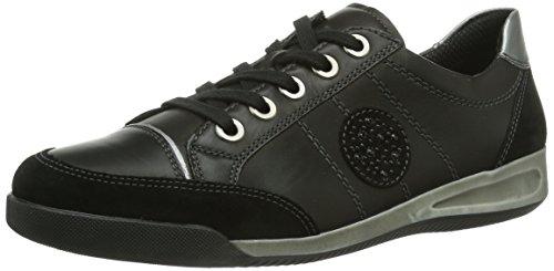 Ara - Rom, Sneakers da donna, Nero (Schwarz (schwarz,gun), 42