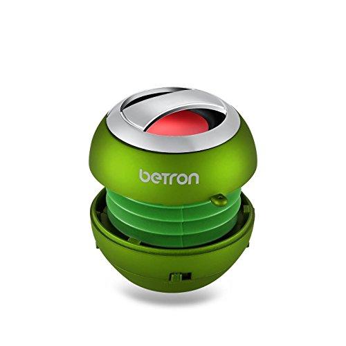 BPS60-tragbare-kabellose-Mini-Bluetooth-Lautsprecher-von-Betron-fr-iPad-iPhone-iPod-Handys-MP3-Player-in-Grn