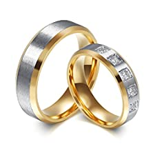 buy Raul Fant Simple Jewelry Hers Stainless Steel Valentine'S Promise Couple Ring Wedding Band,Size 7
