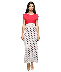 Tryfa Women's Maxi Dress (TFDRMX000064-XL_Red_X-Large)