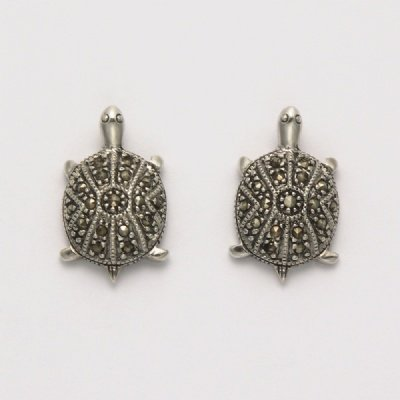 Marcasite Turtle Earrings