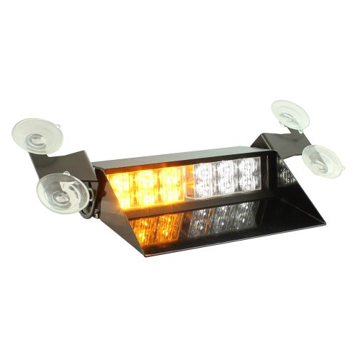 Lamphus Solarblast 12W Led Tow Truck Emergency Vehicle Windshield Dash Strobe Warning Light ( Other Color Available ) - Amber White