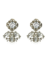 Limited Edition Diamanté Double Drop Earrings