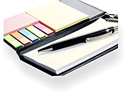 Woogor MEMO NOTE PAD , MEMO NOTE BOOK WITH STICKY NOTES & CLIP HOLDER IN DIARY STYLE
