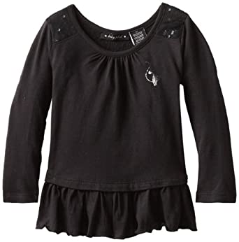 Baby Phat - Kids Little Girls' Tunic With Ruffle, Black, 3T