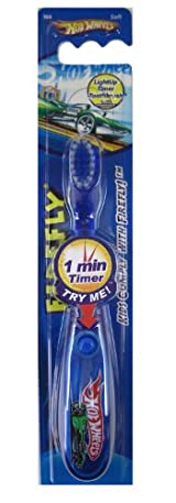 Hot Wheels Lightup Timer Toothbrush - Firefly Hot Wheels Toothbrush Timer