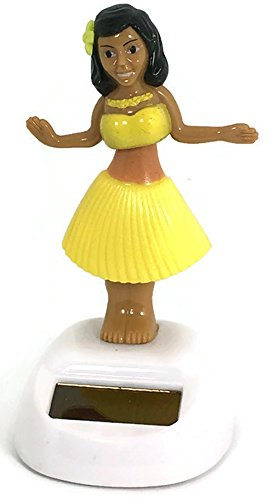 Solar Power Dancing Girl Yellow Skirt (Rv Nightstand compare prices)