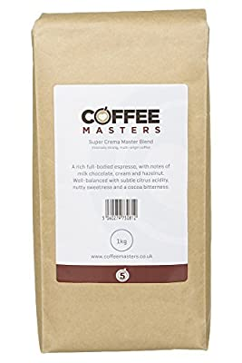 Coffee Masters Super Crema Espresso Coffee Beans 1kg by Coffee Masters