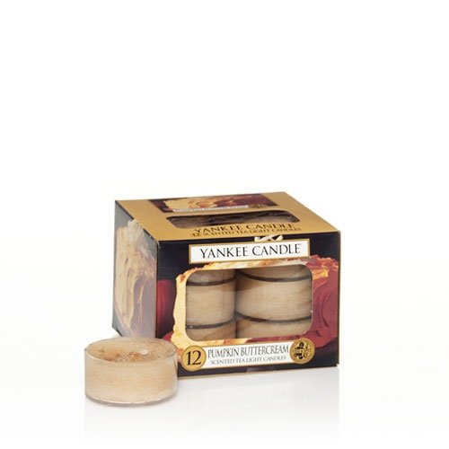 Pumpkin Buttercream Tea Lights (Box Of 12) - Yankee Candle